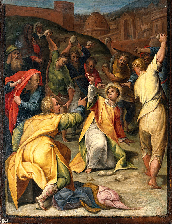 The_stoning_of_St_Stephen_Oil_painting_attributed_to_Orazio_Wellcome-opt