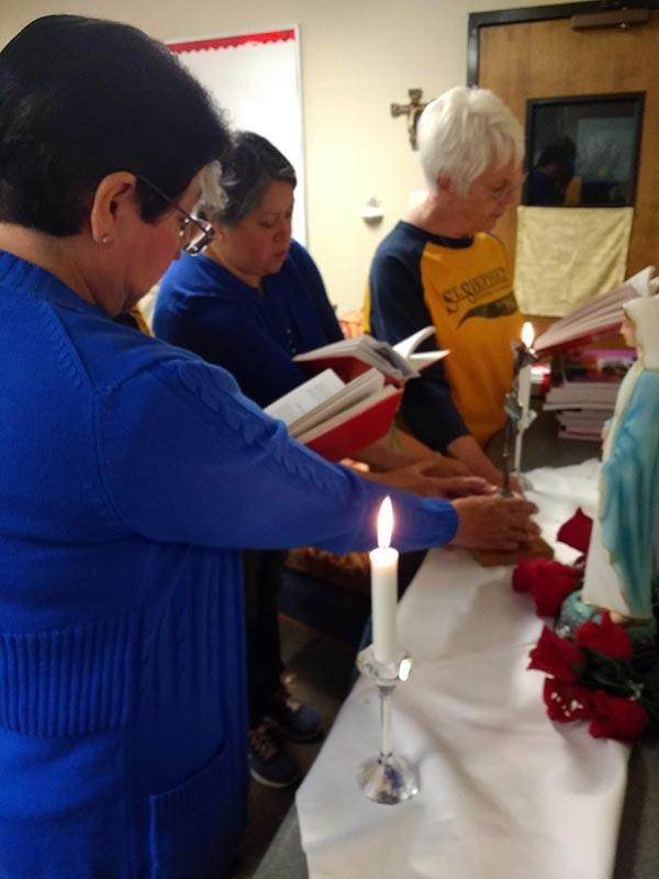 Legion of Mary members taking the Legion promise